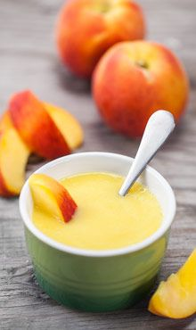 Peach Baby Food Recipe | Blendtec ---> http://www.blendtec.com/recipes/peach_baby_food