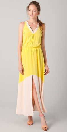 madison marcus colorblock long dress