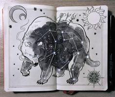 "Ursa Major, ""the great bear"" constellation   by Picolo-kun"
