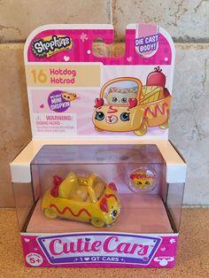 Shopkins Cutie Cars Hotdog Hotrod Car  | eBay
