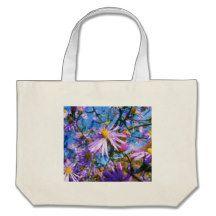 Purple Wildflowers Large Tote Bag