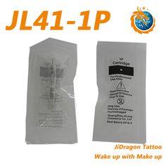 1 Prongs Cartridge Needle For JiDragon Eyebrow Tattoo Permanent Makeup Machine MTS
