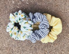 """The """"When Life Gives You Lemons"""" Handmade Scrunchie set - - Scrunchies Shorts E Blusas, Vsco, Hair Ties, Car Accessories, Cute Hairstyles, Your Hair, At Least, Cute Outfits, My Style"""