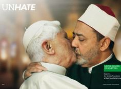 Just one Kiss between a Pope and a Imam This is the last campaign of Benetton , still in the provocation, this is not going to be appreciated by everybody! That make you want to shop to Benetton ? Grand Prix, Ads Creative, Creative Advertising, Guerrilla Advertising, Creative Review, Creative Director, Fashion Advertising, Advertising Campaign, Fashion Marketing