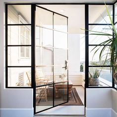 •A steel door at golden hour is just the dreamiest!• #brandonarchitects