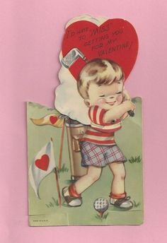 golf valentine. Re-pinned by www.apebrushes.com. GREENS BRUSHES THAT REALLY WORK!