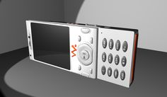 My cellphone, rendered into 3D, using Maya.