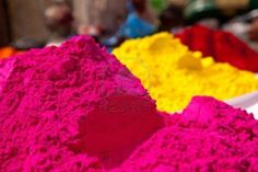 Different colors for sale in india on the occasion of holi holli festival Stock Photo - 14609262 Indian Color Festival, Indian Festivals, Unique Colors, Soft Colors, Different Colors, Holi Powder, Indian Colours, Rosy Pink, Color Pallets