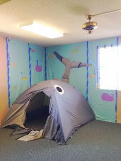 Jonah's whale - but with a little change it could be the tomb and then the empty tomb for Easter
