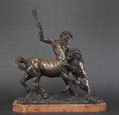 """""""Centaur Battling a Lion"""" by Tommaso Campaiola"""