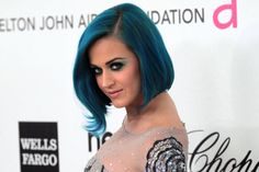 Cus blue haired girls are the best!!! love Katy Perry's blue hair!!