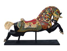 carousel lead horses   Antiques Council - ARMORED CAROUSEL HORSE, MADE BY C.W. PARKER ...