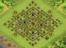 Peanut TH 10 Clash of Clans Base Layout