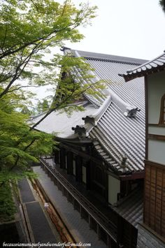 Eikan-dō Zenrin-ji 永観堂禅林寺  in Kyoto, Japan and its wooden corridors that connect the temples buildings.
