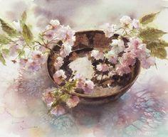 Yuko Nagayama: goods_for_art Art Floral, Watercolour Painting, Watercolor Flowers, Watercolours, Art Chinois, Japanese Flowers, Art Impressions, Japanese Artists, Art Plastique