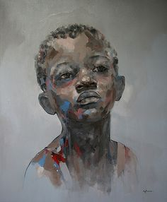 """About South African born artist Ryan Hewett is self taught in the medium he enjoys most, oils. """"I grew up with a pencil in my hand, taking art. African American Art, African Art, African Beauty, Figure Painting, Painting & Drawing, Afro Art, Pics Art, Art Plastique, Portrait Art"""