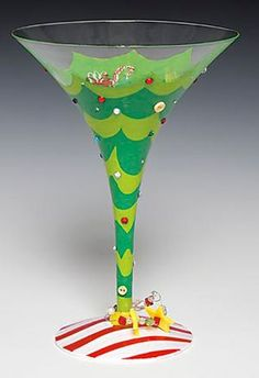 Tipsy Christmas Martini Glass by Lolita