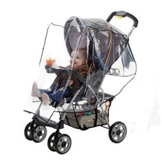 J is for Jeep Standard Stroller Weather ShieldBaby Rain Cover Universal Size Waterproof Water Resistant Windproof See Thru Ventilation Clear Plastic Protection Shade Umbrella Pram Vinyl Double
