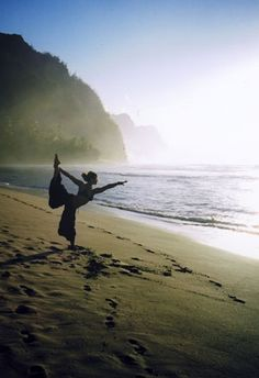 yoga on the beach.... ahhhhh.. awesome way to relax your mind and soul. Bucket list for sure!!