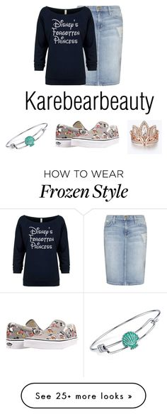 """Chill Day"" by karebearbeauty on Polyvore featuring Current/Elliott, Disney and Vans"