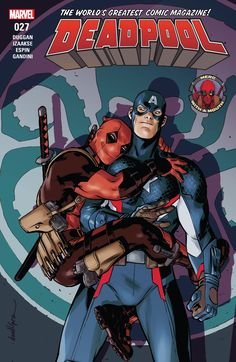 Deadpool Steve Rogers is Captain America, the bastion of all that is good. He's the kind of paragon who Deadpool could really take a lesson from. I'm not caught up on his recent comics, but I can't imagine anything could change that. Marvel Comics, Ms Marvel, Marvel Heroes, Comic Book Characters, Marvel Characters, Comic Character, Comic Books Art, Dead Pool, The Avengers