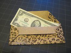 New origami envelope money gift cards 23 ideas Origami Owl Easy, Origami Bow, Origami Swan, Origami Envelope, Diy Envelope, Origami Bookmark, Useful Origami, Oragami, Money Origami