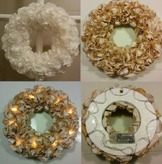 Handmade by HeidiH Christmas Diy, Christmas Wreaths, Christmas Decorations, Xmas, Holiday Decor, Diy And Crafts, Paper Crafts, Door Wreaths, Fairy Lights