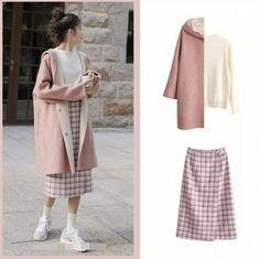 Seoul Fashion, Korea Fashion, Kpop Fashion, Modest Fashion, Daily Fashion, Hijab Fashion, Teen Fashion, Fashion Outfits, Long Skirt Fashion