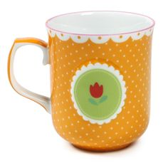 I love the design on this mug, especially the butterscotch with trim!