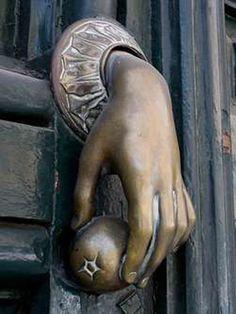 Gorgeous Hand of Fatima vintage door knocker