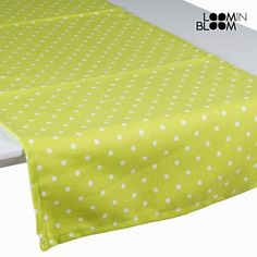 Green polka dot table runner - Little Gala Collection by Loomin Bloom