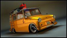 VW Fridolin orange with ladder