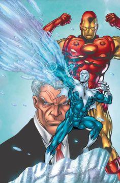 Iron Man vs Blizzard by Tom Grummett