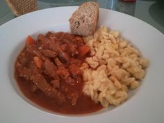 Gulasch with Spätzle - Patrick M. Grains, Rice, Food, Goulash, Cooking, Essen, Meals, Seeds, Yemek