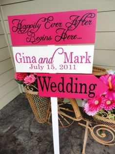 WEDDING DIRECTIONAL SIGN   You can customize your sign. Colors, fonts and verbiage.