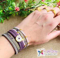 Handmade jewelry and more! Handmade Bracelets, Cuff Bracelets, Handmade Jewelry, Purple Gold, Handmade Art, Rainbow, Rain Bow, Rainbows, Handmade Jewellery
