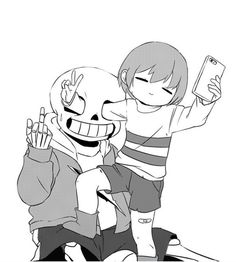 Welp... Artist is unknown! Frisk and Sans