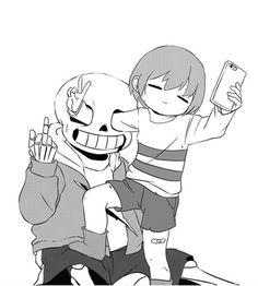 Undertale - Frisk and Sans Undertale Undertale, Frans Undertale, Undertale Comic Funny, Undertale Pictures, Undertale Drawings, Sans Anime, Sans E Frisk, Image Manga, Indie Games