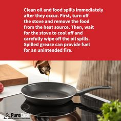 The simple act of keeping your stovetop clean while cooking could prevent a fire! Here's a helpful reminder. #CleaningTip