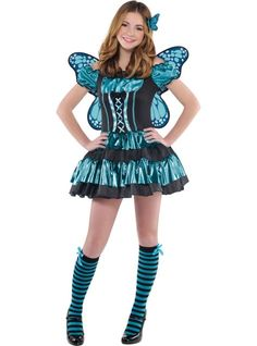 Teen Girls Twilight Shimmer Butterfly Costume - Party City