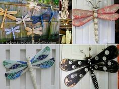 Table Leg Dragonflies made with Ceiling Blades Tutorial