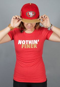 Nothin' Finer Tee for Adult Women 49er inspired by Lytebox on Etsy, $25.00