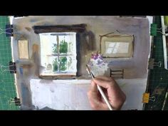 Watercolour demonstration of an old Farmhouse interiour - YouTube