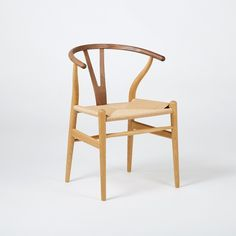 Buy the Exclusive Wishbone Chair Oak & Walnut by Hans J. Wegner and more online today at The Conran Shop, the home of classic and contemporary design Contemporary Chairs, Contemporary Design, Paris Flat, Luxury Chairs, Showcase Design, Seat Pads, Wishbone Chair, One Design, Modern Luxury
