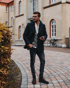 """e079e67da596 Justus Frederic Hansen on Instagram  """"There are some pieces you can t go  wrong with - a pea coat is an example for such. I knew you could combine it  with ..."""