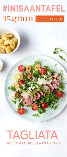 Steaks, Gnocchi, Pasta Salad, Italian Recipes, Nom Nom, Food And Drink, Chicken, Vegetables, Ethnic Recipes