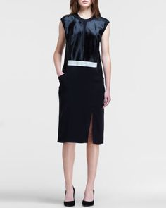 Combo Keyhole-Back Dress by Helmut Lang at Bergdorf Goodman.