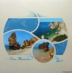 Pages faites avec les gabarits Bilbao-Macao d'après des modèles de Floscrap publiés sur le forum de Scrap européen.Recto : Gabarit BilbaoVerso: Gabarit Macao