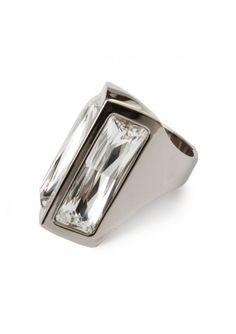 Atelier Swarovski by Zaldy | Crystal Shadow Ring Silver | Hervia.com #atelier #swarovski #crystal #hervia
