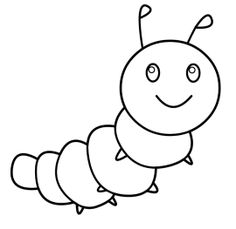 Caterpillar Number Coloring Pages